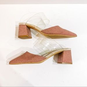 Staccato Rose Gold mule SZ- 235 US 6.5